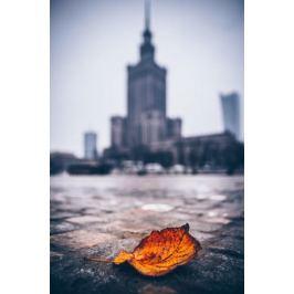 Warszawa Pałac Kultury i Nauki Jesienna Impresja - plakat premium Fototapety