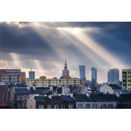 Warszawa Objawienie Panorama Miasta - plakat premium Fototapety