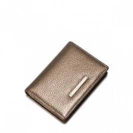 Niewielki damski portfel Złoty Portfele