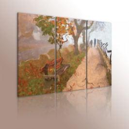 Obraz - Jesienna promenada - tryptyk Fototapety