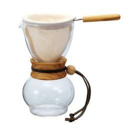 Hario Woodneck Drip Pot Olive Wood 1 Cup - 240ml
