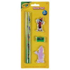 Zestaw Crayola: 2 ołówki HB, karteczki samoprzylepne, gumka, strugaczka