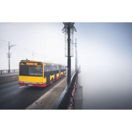 Warszawa Mgła - plakat premium