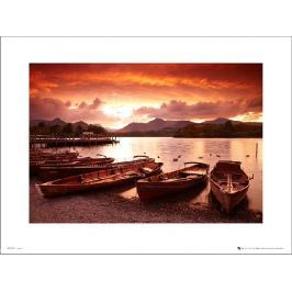 Tom Mackie Sunset Boats - plakat premium