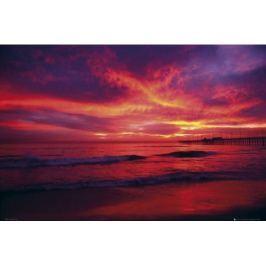 Dreams - Piękny Zachód Słońca nad Oceanem - plakat