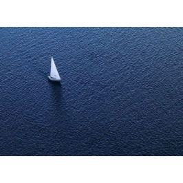 Lonely yacht. The top view - fototapeta