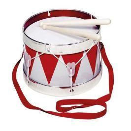Bęben, z biało-czerwonymi trójątami