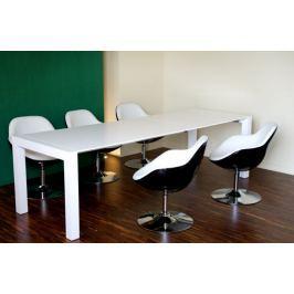 Fotel Pezzo K- czarny, S-białe