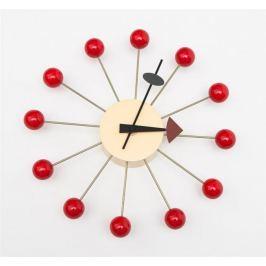 Zegar Kulka czerwony