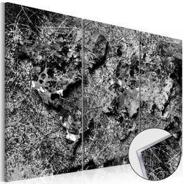 Obraz na szkle akrylowym - Mapa świata: Szara nić [Glass]