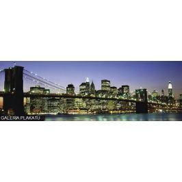 Nowy Jork - Brooklyn Bridge by night - plakat