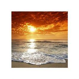 Wybrzeże - zachód słońca - plakat premium