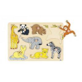 Układanka z elementami do wkładania, małe zwierzęta, żyrafa...