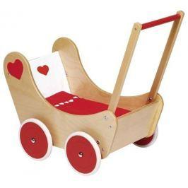 Wózek dla lalek serduszko z pościelą