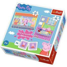 Trefl puzzle 2w1 + memos Świnka Peppa 90600