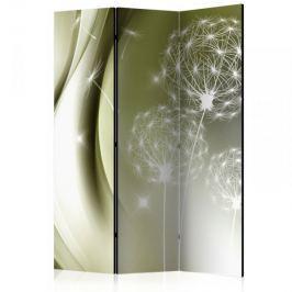 Parawan 3-częściowy - Zielona delikatność [Room Dividers]