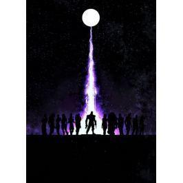 Mass Effect Vintage Poster - plakat