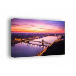 Budapeszt, poranek nad Dunajcem - obraz na płótnie