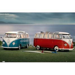 Volkswagen Camper Twin Kombis - plakat