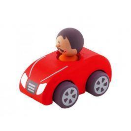 Drewniany samochód z kierowcą