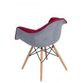 Krzesło P018 DAW Duo czerwono szare