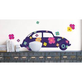 Naklejka kwiatowe auto Garbus