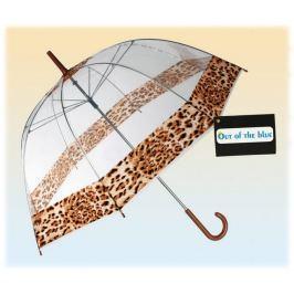 Parasol przezroczysty lampart- duża otwierana ręcznie parasolka