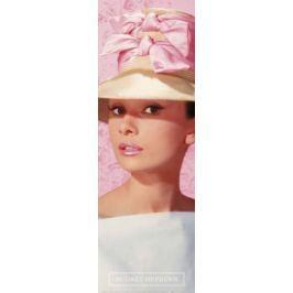 Audrey Hepburn Różowy Kapelusz - plakat