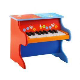 Kolorowe, drewniane pianino z kartami do nauki gry