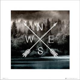 Arrows North - plakat premium