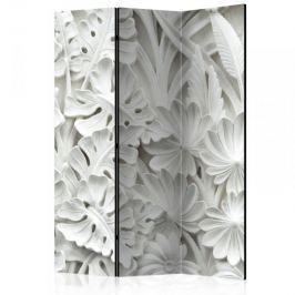 Parawan 3-częściowy - Alabastrowy ogród [Room Dividers]