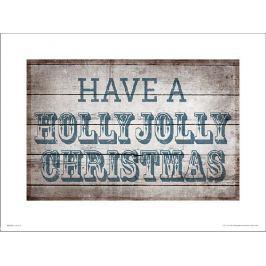 Holly Jolly Christmas - plakat premium