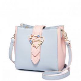 ''Just Star'' niebieska torebka na ramię z serduszkiem