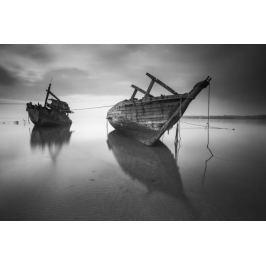 Stare łodzie - plakat