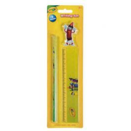 Zestaw Crayola: ołówek,linijka,gumka