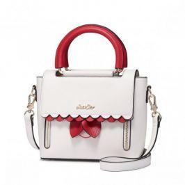 JUST STAR biała torebka z czerwonymi dodatkami