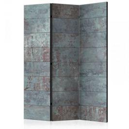 Parawan 3-częściowy - Turkusowy beton [Room Dividers]