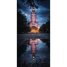 Warszawa Mroczny Pałac Kultury - plakat premium
