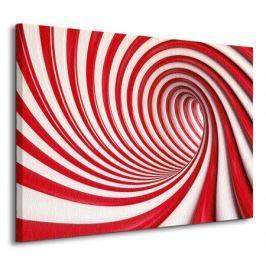 Czerwony tunel - Obraz na płótnie
