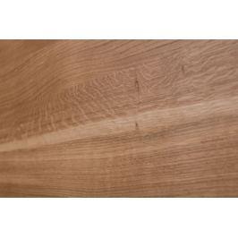 Stolik Loft 45x45 czarny profil 30 mm blat lakierowany dąb naturalny