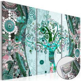 Obraz na szkle akrylowym - Szmaragdowe drzewo [Glass]