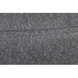 Podnóżek Jajo szeroki tkanina szary JA-2702