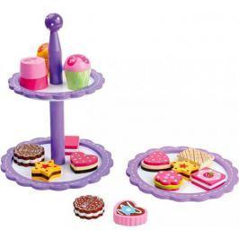 Etażerka z ciasteczkami i czekoladkami, 5857-small foot, zabawki drewniane, zabawa w gotowanie