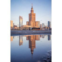 Warszawa Poranek - plakat premium