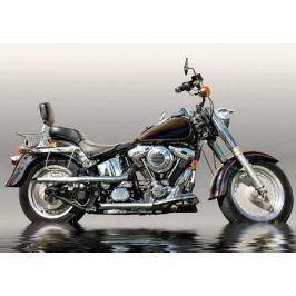 Czarny Motocykl - fototapeta