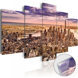Obraz na szkle akrylowym - Bezsenność w Nowym Jorku [Glass]