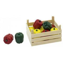 Warzywa w skrzynce, papryki, 10 elementów.