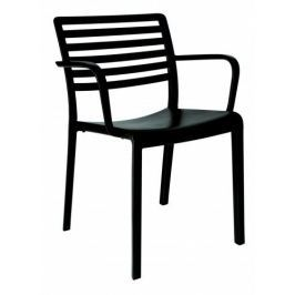 Krzesło Lama z podłokietnikami czarne