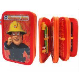 Piórnik potrójny z wyposażeniem Fireman Sam Strażak