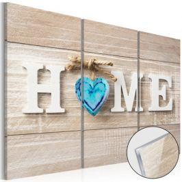 Obraz na szkle akrylowym - Home: Niebieska miłość [Glass]